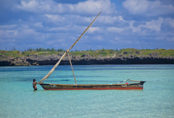 Fischer in der Watamu Bay Kenia