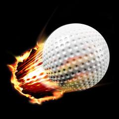 Golf ball flames