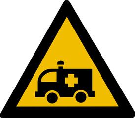 Warning sign - ambulance