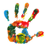 Fototapety Multicolored hand print