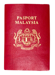 Malaysia passport isolated in white with clipping path