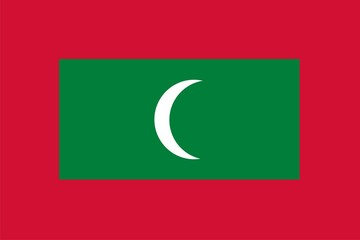 Flag of Republic of Maldives