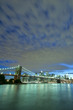 New York and Brooklyn Bridge at twilight
