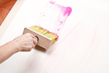 Wallpapering.
