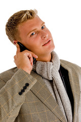 professional person busy on phone call