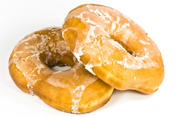 doughnuts on white background