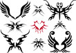 tattoo design set, vector
