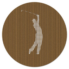 Pierced Cardboard Golf Medallion