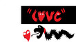 tattoo and T-Shirt Design of a heart chased by a dragon