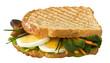 Toast con uova e funghi