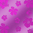 Aluminum Flowers pink - Perforated plate