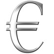3D Silver Euro Symbol