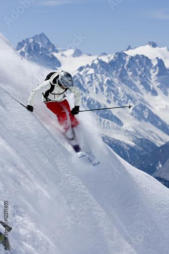 Canvas Wintersporten ski freeride 4