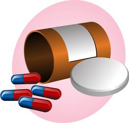 Pillbox and pills