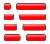 Rectangular Buttons (various lengths) (red) poster