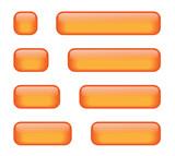 Rectangular Buttons (various lengths) (orange) poster