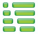 Rectangular Buttons (various lengths) (green) poster