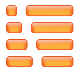 Rectangular Buttons (various lengths) (orange)