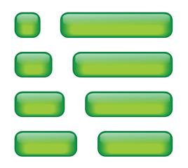 Rectangular Buttons (various lengths) (green)