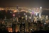 Hongkong (Hong Kong), China - Skyline at night - Fine Art prints