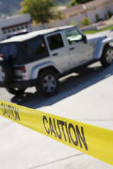 Jeep Behind Police Tape