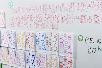 White Board in Elementary Classroom