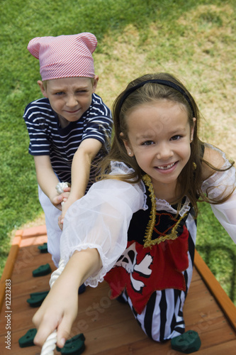Little Kids Playing Pirate