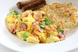 Scrambled Eggs with Ham and Peppers poster