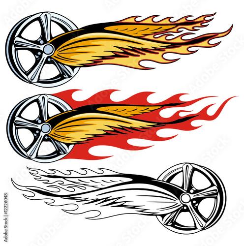rod flames clip art