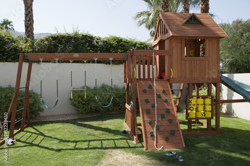 Play Equipment in Backyard