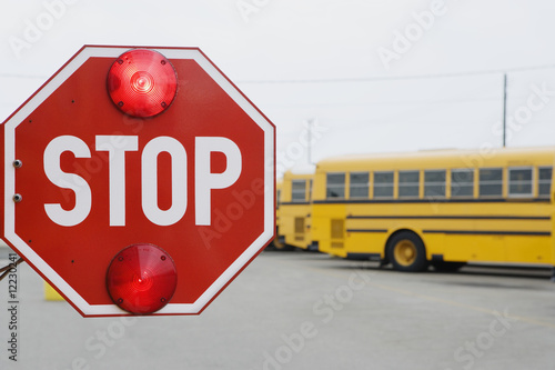 Stop Sign on School Bus