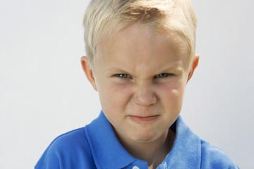 Young Boy Glaring