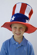 Boy Wearing Stars and Stripes Top Hat