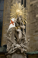 statue at St stephens cathedral