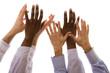 multiracial hands