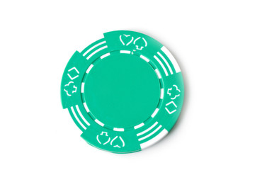 Green poker marker