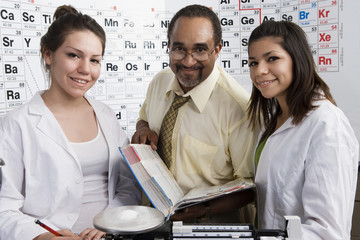 Students and Teacher in Science Class