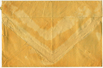 The old turned yellow post envelope