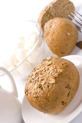 bread and mozzarella