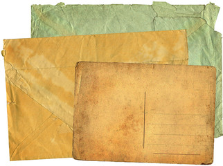 Two greater old envelopes and postcard