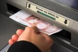 Fototapete Geld - Münze - Füße / Hände