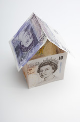 House made of paper currency