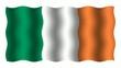 3D-animierte Flaggen im Wind: Irland