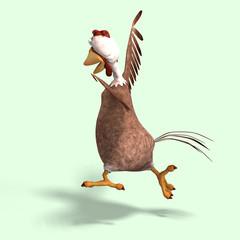 crazy cartoon chicken