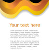 Gold background with space for text. Vector.