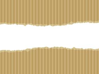 Ripped cardboard illustration