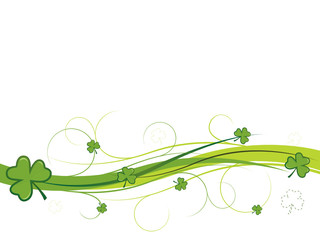 Shamrock and swirls banner