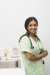 Female doctor,smiling