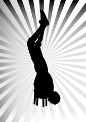 Man show vector silhouette