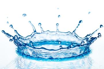 splashes water